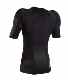 ixs maillot de protection hack noir kid l