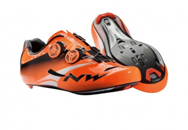 Chaussures Route NORTHWAVE EXTREME TECH PLUS 2015 orange fluo