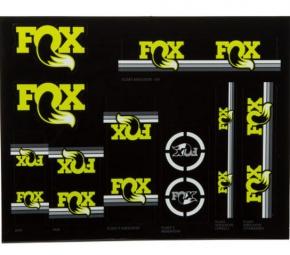 FOX Kit stickers Heritage Fourche et amortisseur Jaune