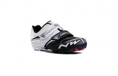 chaussures vtt northwave spike evo blanc noir 45