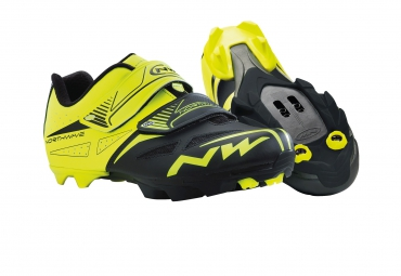 Chaussures VTT Northwave SPIKE EVO 2015 jaune-noir
