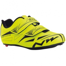 chaussures route northwave jet evo jaune fluo 42