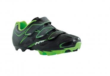 Chaussures VTT Northwave Scorpius 3S 2015 noir-vert fluo
