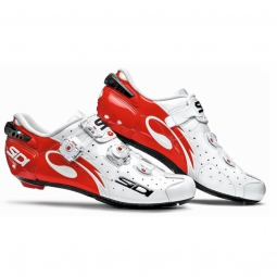 Chaussures Route Sidi WIRE CARBON 2015 Blanc rouge verni
