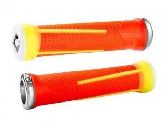 ODI Paire de Grips AG-1 Lock-On Orange/Jaune