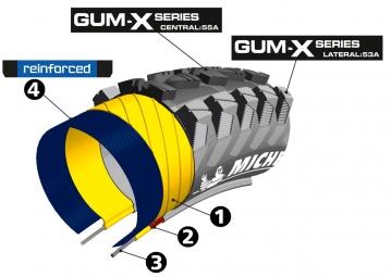 MICHELIN Pneu WILDRACE'R 2 ADVANCED Reinforced GUM-X 27.5 x 2.25'' Tubeless Ready