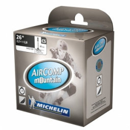 michelin chambre a air vtt c5 aircomp mountain 26x2 1 2 6 valve presta 40mm