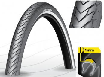 Cubierta Urbain MICHELIN PROTEK 700mm TubeType Tringle Rígido Renfort anti crevaison 1mm Ebike Ready