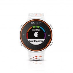 garmin montre de running gps forerunner 620 blanc orange