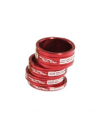 Sb3 kit de 4 entretoises de direction 4 8 10 15 mm 1 5 rouge