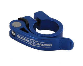 Global racing collier de selle serrage rapide speedclamp alu bleu 31 8