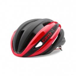 Casque giro synthe rouge noir mat s 51 55 cm