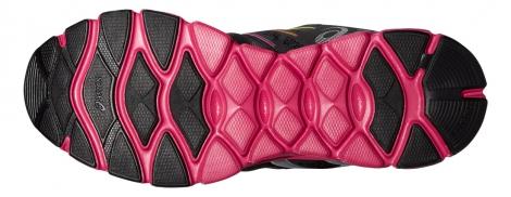 asics chaussures gel evation noir rose femme 36