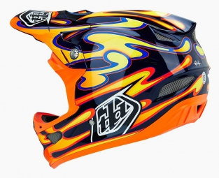Casque Intégral Troy Lee Designs D3 SQUIRT Carbone Noir/Orange