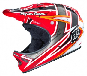 Casque integral troy lee designs d2 proven rouge xl xxl 60 62 cm