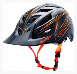 Casque TROY LEE DESIGNS A1 PINSTRIPE Noir/Rouge