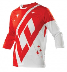 troy lee designs manches 3 4 ruckus rekon rouge blanc xl