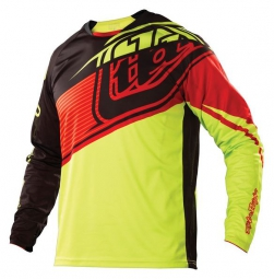TROY LEE DESIGNS Maillot Manches Longues Enfant SPRINT ELITE Jaune