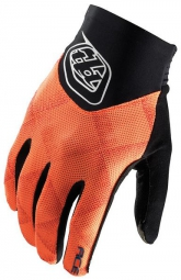 troy lee designs paire de gants longs ace noir orange s