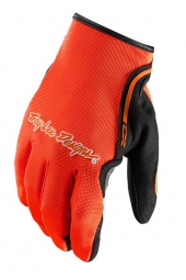 troy lee designs paire de gants longs xc orange m