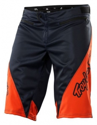 TROY LEE DESIGNS Short SPRINT SOLID Noir/Orange