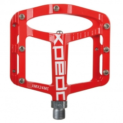 xpedo paire de pedales spry 9 16 vtt freeride rouge
