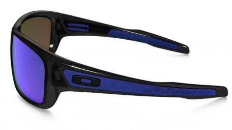 oakley lunettes turbine noir verre bleu iridium ref oo9263 05