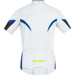 gore bike wear maillot power 2 0 bleu jaune fluo s