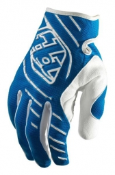 troy lee designs paire de gants longs se bleu l