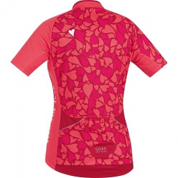 gore bike wear maillot manches courtes femmes element camo rose s