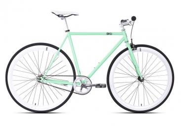 6KU Vélo Complet Fixie MILAN 1 Mint Green/White