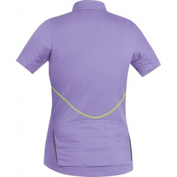 gore bike wear maillot manches courtes femmes element violet neon xs