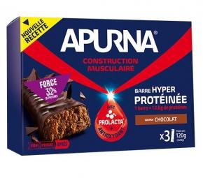 APURNA Barre Hyperproteinée Chocolat-Etui 3x40g