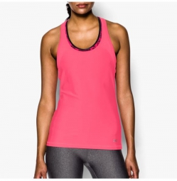 Under armour debardeur femme heatgear alpha mesh rose l