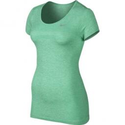 nike tee shirt femme dri fit vert femme s