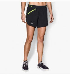 under armour short femme fly fast noir s