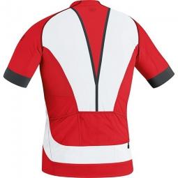gore bike wear maillot manches courtes alp x pro rouge blanc s