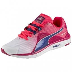 puma chaussures femme faas 500 v4 rose bleu 37