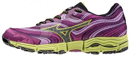 Chaussures de Trail Femme Mizuno WAVE KAZAN Violet / Jaune