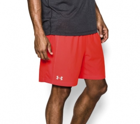 under armour short homme launch 2 en 1 orange xl