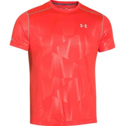 UNDER ARMOUR Maillot Manches Courtes COLDBLACK Orange