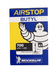 Michelin A1 AirStop Butyl Road Bike Tube 700x18c - 700x23c