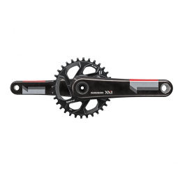 sram pedalier xx1 avec plateau direct mount 32 dents q factor 156 mm boitier gxp non inclus rouge 170