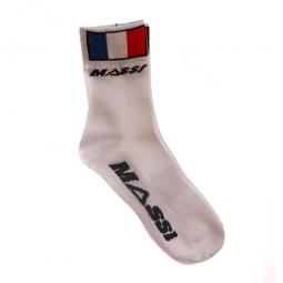 MASSI Paire de Socquettes FRANCE EDITION Blanc