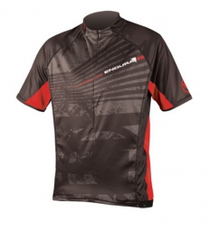 ENDURA Maillot manches courtes HUMMVEE RAY Noir/Rouge