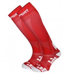 bv sport chaussettes de compression xlr rouge l