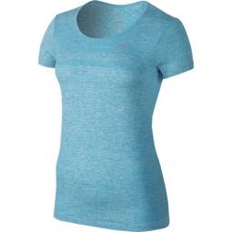 nike t shirt dri fit bleu femme m
