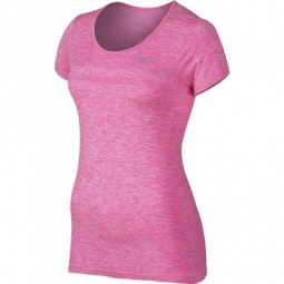 nike t shirt dri fit knit rose l