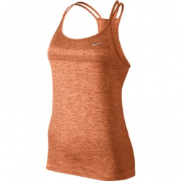 nike debardeur dri fit knit orange femme l