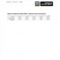 James et Nicholson Collant court running jogging course à pied - FEMME JN435 - noir